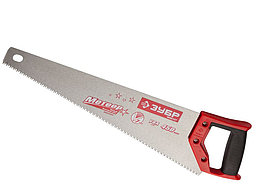 "Ножовка ЗУБР ""МАСТЕР"" МЕТЕОР по дереву, закаленный зуб, сталь У8, 2-комп. пластиковая рукоятка, шаг зуба 3, 5мм, 450м"
