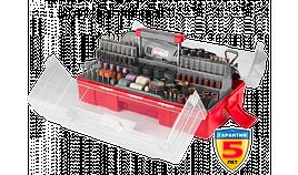 Гравер ЗУБР электрический с набором мини-насадок в кейсе, 242 предмета