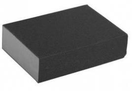 "Губка шлифовальная ЗУБР ""МАСТЕР"" четырехсторонняя, SiC, средняя жесткость, Р80, 100х68х26мм"