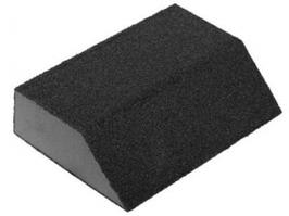 "Губка шлифовальная ЗУБР ""МАСТЕР"" четырехсторонняя угловая, средняя жесткость, Р120, 100х68х42х26мм"