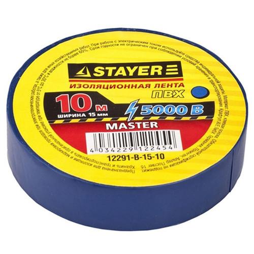 """Изолента STAYER """"MASTER"""" черная, ПВХ, 5000 В, 15мм х 10м"""