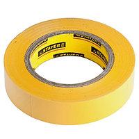 """Изолента STAYER """"PROFI"""" желтая ПВХ, на карточке, 15 мм х 10 м х 0, 18мм"""