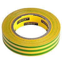 """Изолента STAYER """"PROFI"""" желто-зеленая, ПВХ, 15мм х 10м х 0, 18мм"""