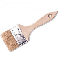 """Кисть флейцевая DEXX """"ПРАКТИК"""" , деревянная ручка, натуральная щетина, индивидуальная упаковка, 75мм"""