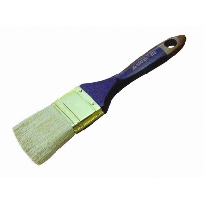 """Кисть плоская STAYER """"UNIVERSAL-PROFI"""", светлая натуральная щетина, деревянная ручка, 50мм"""