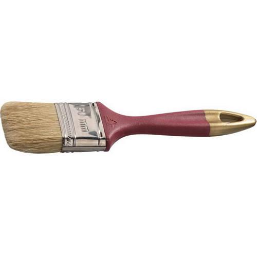"""Кисть плоская STAYER """"UNIVERSAL-PROFI"""", светлая натуральная щетина, пластмассовая ручка, 75мм"""