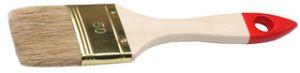 """Кисть плоская ТЕВТОН """"СТАНДАРТ"""", светлая натуральная щетина, деревянная ручка, 20мм"""