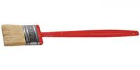 """Кисть плоская ЗУБР """"БСГ-52"""", удлиненная с быстросъемной головой, натуральная щетина, пластмассовая ручка, 75мм"""