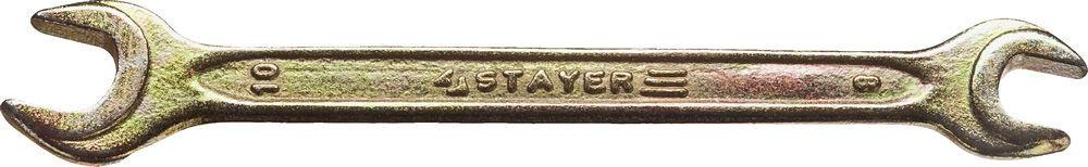 "Ключ STAYER ""MASTER"" гаечный рожковый, 8х10мм"
