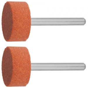 Круг ЗУБР абразивный шлифовальный на шпильке, P 120, d 15, 0x10, 0х3, 2мм, L 45мм, 2шт