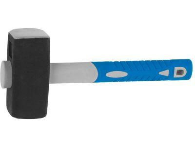 """Кувалда ЗУБР """"ЭКСПЕРТ"""" кованая с обратной двухкомпонентной фиберглассовой рукояткой и защитной резиновой манжетой, 6, 0кг"""