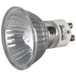 Лампа галогенная СВЕТОЗАР с защитным стеклом, алюм. отражатель, цоколь GU10, диаметр 51мм, 75Вт, 220В