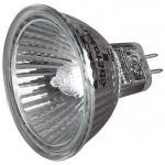 Лампа галогенная СВЕТОЗАР с защитным стеклом, алюм. отражатель, цоколь GU5.3, диаметр 51мм, 20Вт, 12В