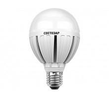 "Лампа СВЕТОЗАР светодиодная ""LED technology"", цоколь E27(стандарт), теплый белый свет (2700К), 220В, 10Вт (75)"