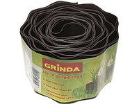 Лента бордюрная Grinda, цвет коричневый, 15смх9м