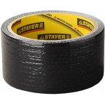 """Лента STAYER """"MASTER"""" """"UNIVERSAL"""" клейкая, армированная, влагостойкая. 48мм х 10м, черный"""
