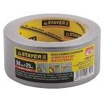 """Лента STAYER """"MASTER"""" """"UNIVERSAL"""" клейкая, армированная, влагостойкая. 48мм х 25м, металлик"""