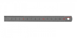 Линейка ЗУБР нержавеющая, двусторонняя, непрерывная шкала 1/2мм / 1мм, двухцветная, длина 0, 3м, толщина 0, 7мм