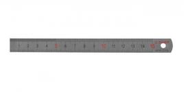 Линейка ЗУБР нержавеющая, узкая, двусторонняя, непрерывная шкала 1/2мм, длина 0, 15 м, толщина 0, 5 мм