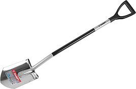 """Лопата ЗУБР """"ЭКСПЕРТ"""" из нержавеющей стали, алюминиевый черенок, 280х190х1200мм"""