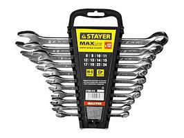 """Набор: Ключ STAYER """"MASTER"""" гаечный комбинированный, хромированный, 6-14 мм, 6 шт"""