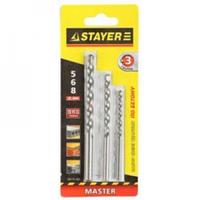 "Набор STAYER Сверла ""MASTER"" по бетону, 5; 6; 8мм, 3шт"