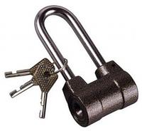 """Замок навесной ЗУБР """"МАСТЕР"""" облегченный, дисковый механизм секрета, ключ 7 PIN, удлиненная дужка d-10мм, 60мм"""