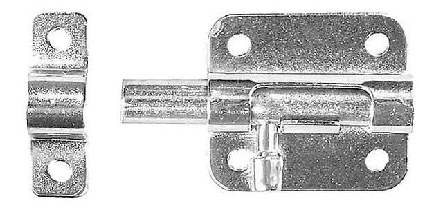 """Задвижка накладная для окон и мебели """"ШП-10 КМЦ"""", цвет коричневый металлик/цинк, 30мм"""