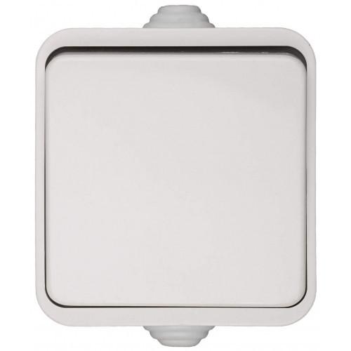 Выключатель СВЕТОЗАР БАТТЕРФЛЯЙ одноклавишный, цвет белый, 10А/~250В