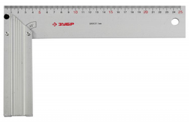 Угольник ЗУБР столярный нерж. сталь, шкала: шаг 1 мм, гравированная, 500 х 250 мм