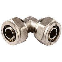 Уголок ЗУБР соединительный, цанга-цанга, 16х16х2, 0, никель