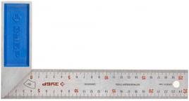 """Угольник ЗУБР """"ЭКСПЕРТ"""" столярный, гравированная шкала, алюминиевая рукоятка, нержавеющее полотно 37мм, 250мм"""