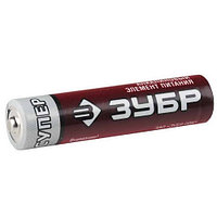 "Батарейка Зубр ""СУПЕР"" щелочная (алкалиновая), тип AAA, 1, 5В, 2шт на карточке"