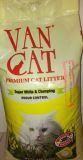 Van Cat Fresh, 15 кг, с ароматом Лаванды комкующийся наполнитель без пыли