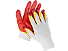 "Перчатки STAYER ""МASTER"" MaxSafe трикотажные, двойная обливная ладонь из латекса, х/б, 13 класс, L-XL, 10 пар"