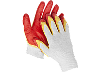 """Перчатки STAYER """"МASTER"""" трикотажные, двойная обливная ладонь из латекса, х/б, 13 класс, L-XL"""