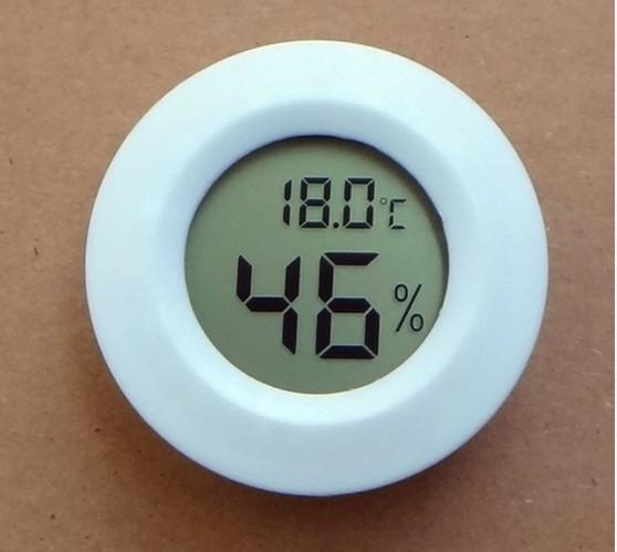 Встраиваемый круглый термометр гигрометр (гидрометр) диаметром 40мм