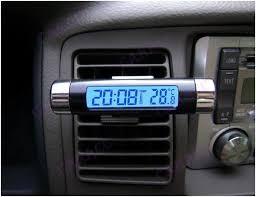 Цифровые часы с термометром для автомобиля T031 с подсветкой