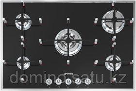Варочная панель Smeg PVN750 74 см, черное стекло, рамка полированный алюминий в Алматы - фото 1