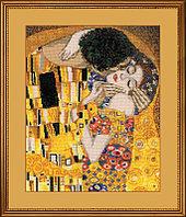 """Набор для вышивания крестом """"Поцелуй"""" по мотивам картины Г. Климта"""