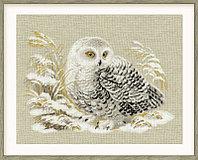 """Набор для вышивания крестом """"Белая сова"""", фото 1"""