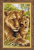 """Набор для вышивания крестом """"Львица с львёнком"""""""