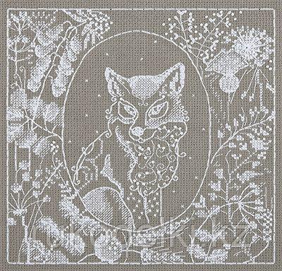 """Набор для вышивания крестом """"Белое кружево. Лисица"""""""