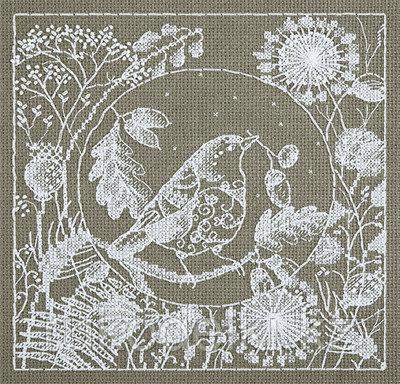 """Набор для вышивания крестом """"Белое кружево. Птица"""""""