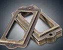 фурнитура для шкатулок рамка для бирки, фото 2