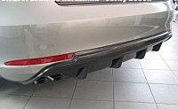 Диффузор на задний бампер Skoda Octavia A5FL, фото 1