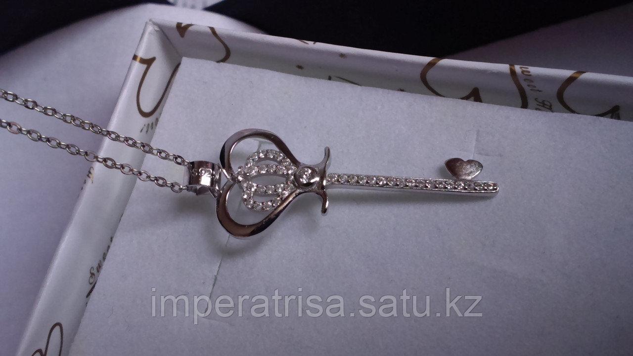 Серебряный кулон ключ в стиле Tiffany & Co. 3