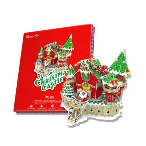 CubicFun Сказочный рождественский замок ( с подсветкой )