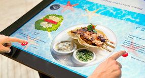 Интерактивное сенсорное меню в кафе/рестораны