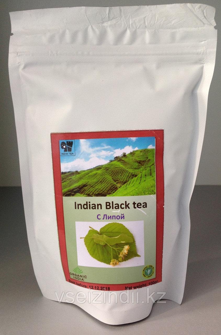 Чай с добавками  черный, с липой, 100гр
